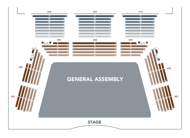BALCONY SEATING WITH GENERAL ADMISSION FLOOR